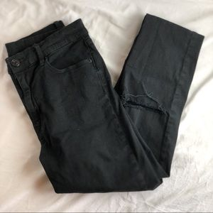 BDG Black Skinny High Waisted Distressed Jeans